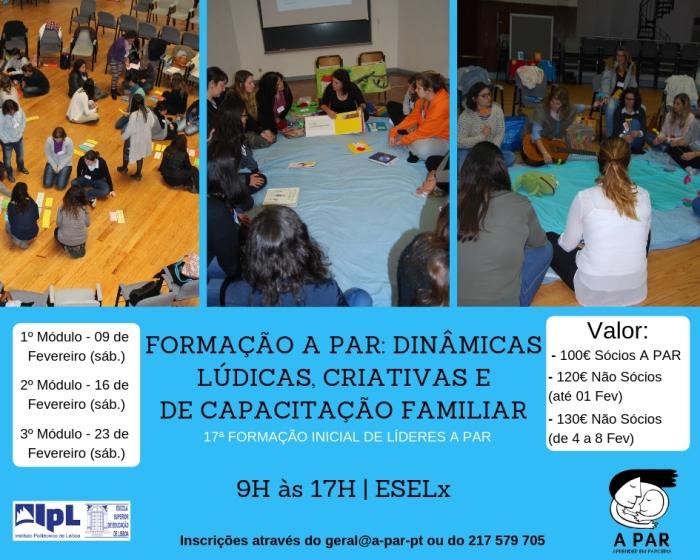 formação a par_ dinâmicas lúdicas, criativas e de capacitação familiar 17ª formação inicial de líderes a par